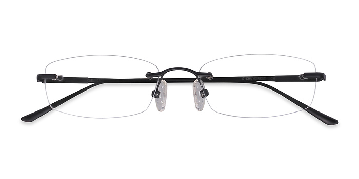Black Clem -  Lightweight Metal Eyeglasses