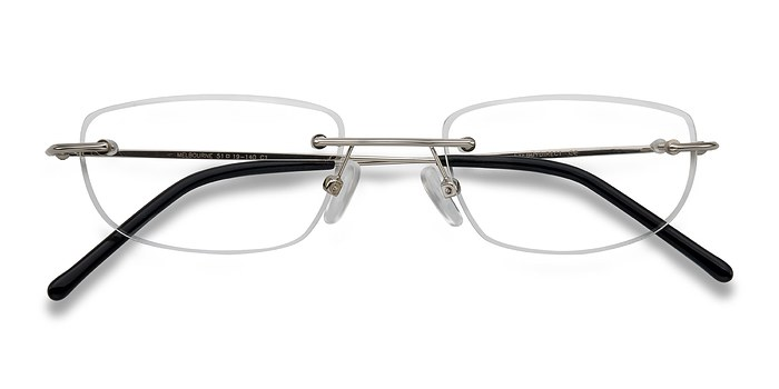 Silver Melbourne -  Lightweight Metal Eyeglasses