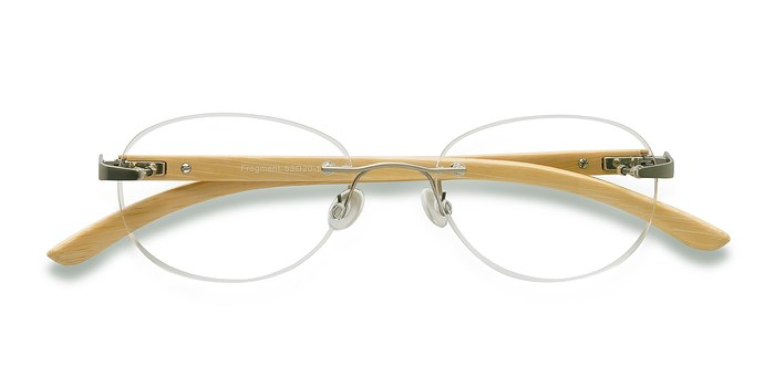 Silver Yellow Fragment -  Lightweight Metal Eyeglasses