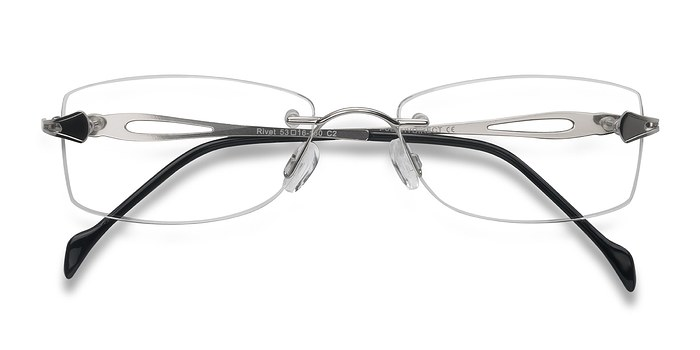 Silver Rivet -  Lightweight Metal Eyeglasses