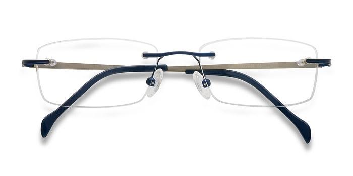 Navy Howard -  Lightweight Metal Eyeglasses