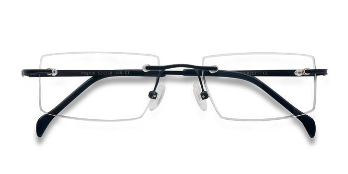 Navy Pilgrim -  Lightweight Metal Eyeglasses