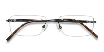 Black Wheeler -  Lightweight Titanium Eyeglasses