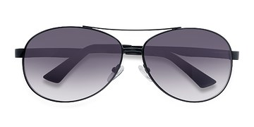 Black Santorini -  Metal Sunglasses