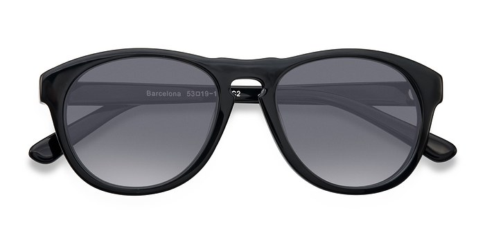 Black Barcelona -  Plastic Sunglasses