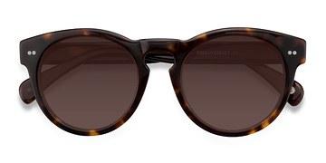 Brown/Tortoise Penelope -  Plastic Sunglasses