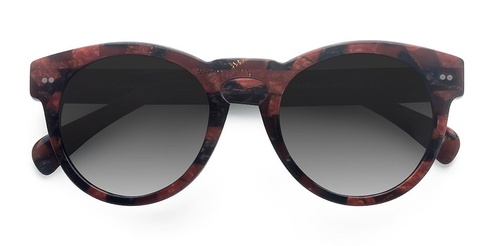 Red Floral Penelope -  Vintage Acetate Sunglasses