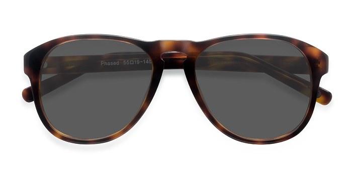 Tortoise Phased -  Acetate Sunglasses