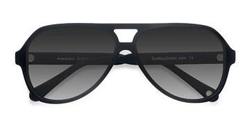 Matte Black Americana -  Acetate Sunglasses