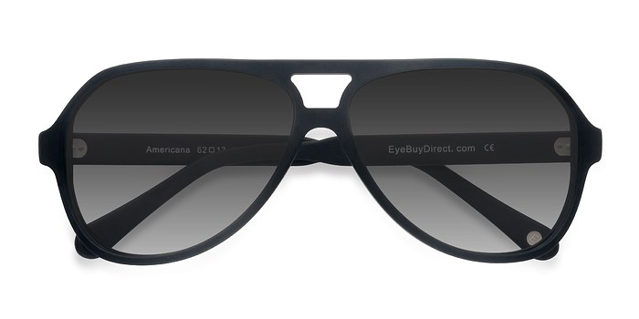 Matte Black Americana -  Acetate Sunglasses