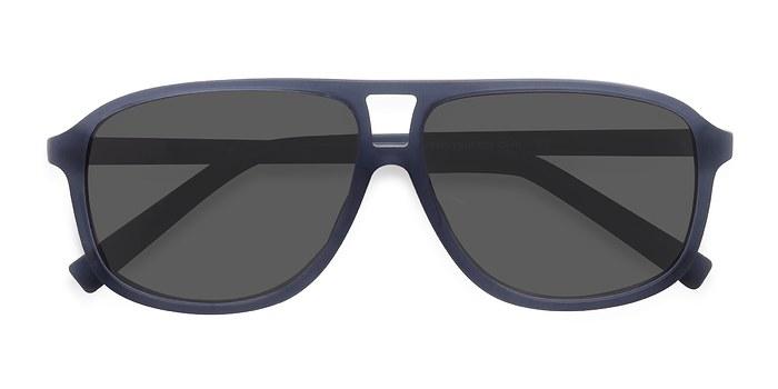 Matte Blue Bart -  Acetate Sunglasses
