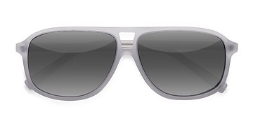 Matte White Bart -  Acetate Sunglasses