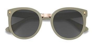 Matte Olive Vedette -  Metal Sunglasses