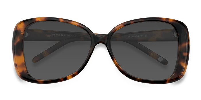 Tortoise Marilyn -  Vintage Acetate Sunglasses