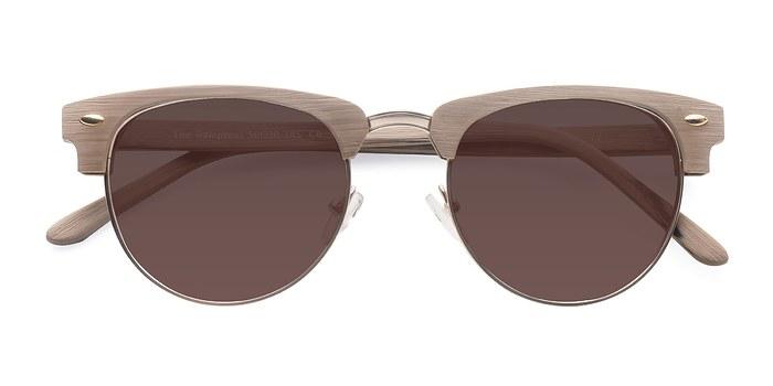 Oak & Silver The Hamptons -  Wood Texture Sunglasses