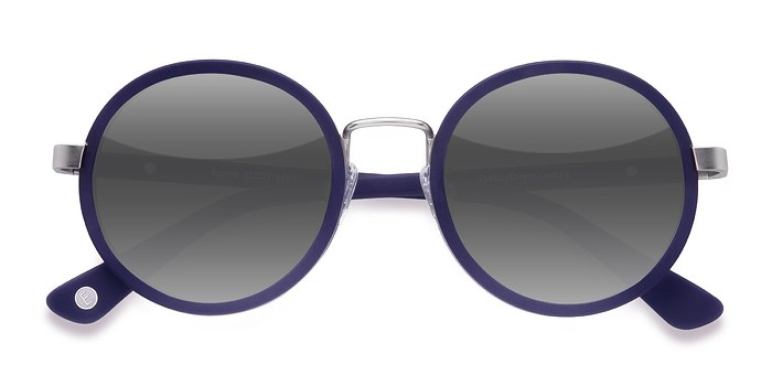 Matte Navy Bounce -  Acetate Sunglasses
