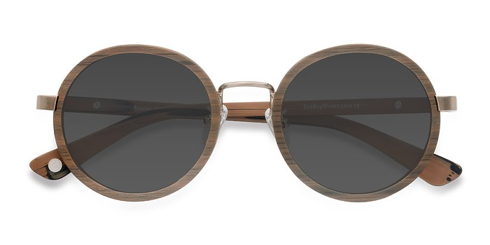 Brown Bounce -  Wood Texture Sunglasses