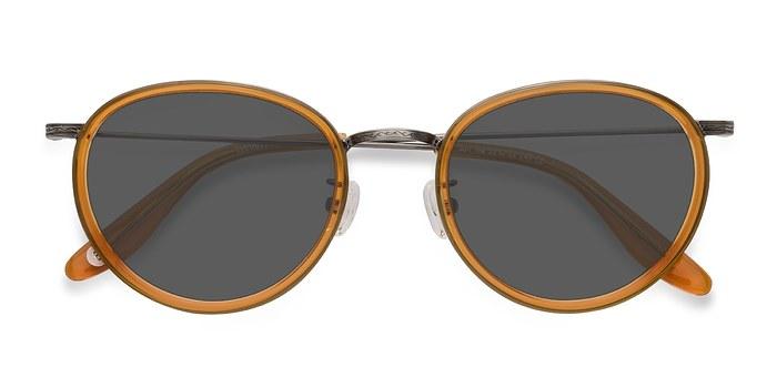 Brown Sun Tea -  Vintage Acetate Sunglasses