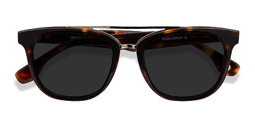 Tortoise Crown -  Vintage Acetate Sunglasses