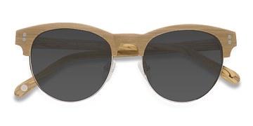 Yellow College -  Wood Texture Sunglasses