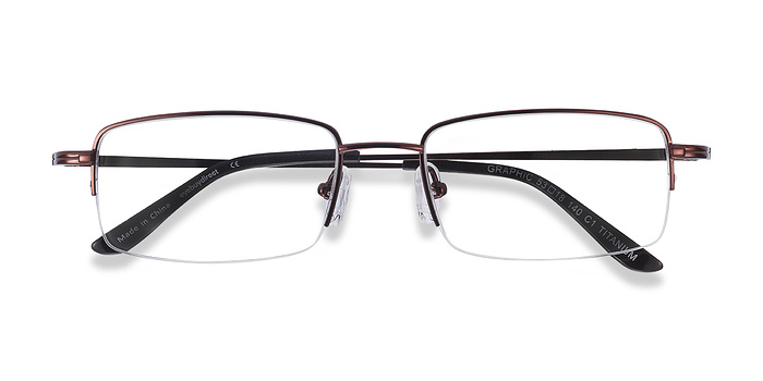 Coffee  Graphic -  Lightweight Titanium Eyeglasses