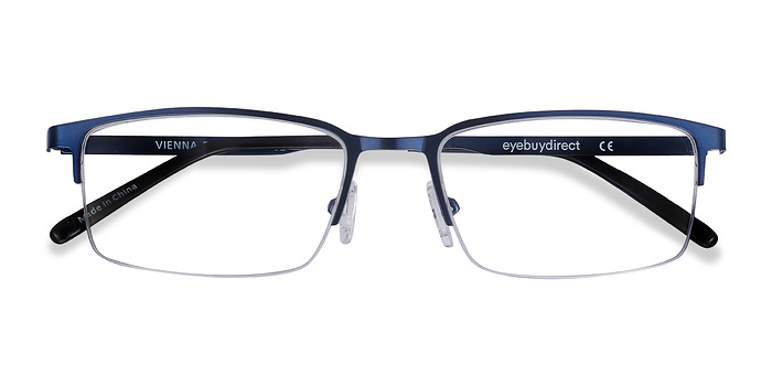 Navy Vienna -  Metal Eyeglasses