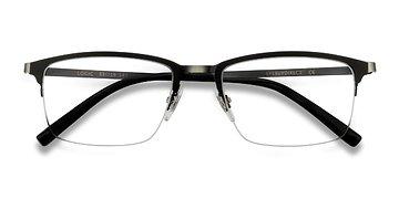 Matte Black Logic -  Metal Eyeglasses