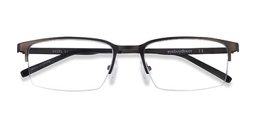 Dark Charcoal Bezel -  Metal Eyeglasses
