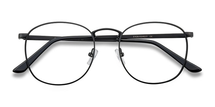 Black ST Michel -  Vintage Metal Eyeglasses