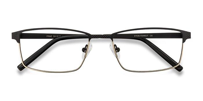 Black Brown Prime -  Metal Eyeglasses