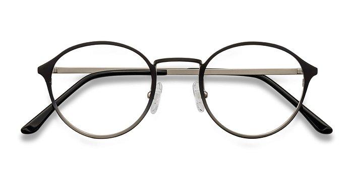 Silver Black Rising -  Metal Eyeglasses
