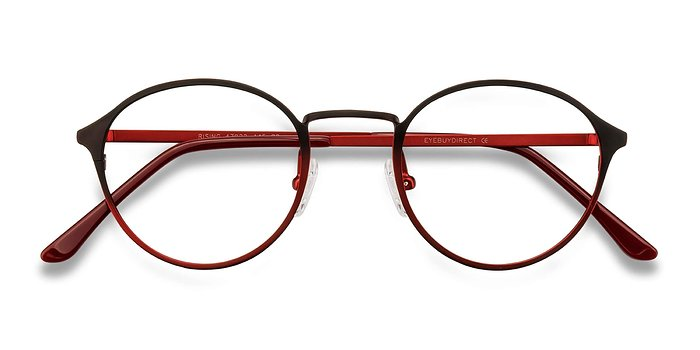 Red Black Rising -  Metal Eyeglasses