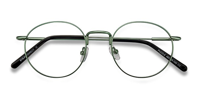 Green Puzzle -  Metal Eyeglasses
