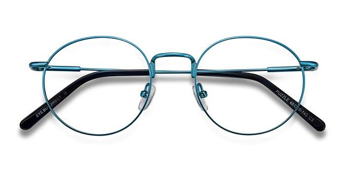 Blue Puzzle -  Metal Eyeglasses