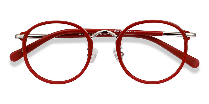 Matte Red Carnival -  Metal Eyeglasses