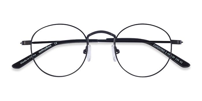Black Cupertino -  Vintage Metal Eyeglasses