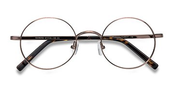 Brown Tortoise Socrates -  Metal Eyeglasses