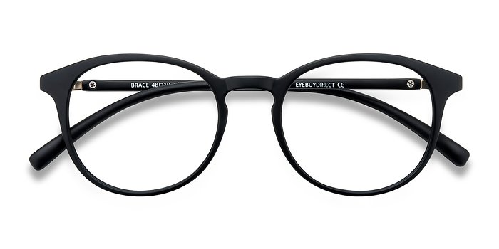 Matte Black Brace -  Plastique Lunettes de Vue
