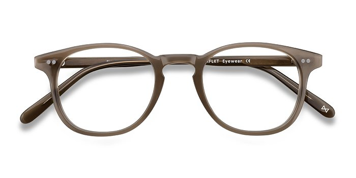 Taupe Symmetry -  Vintage Acetate Eyeglasses