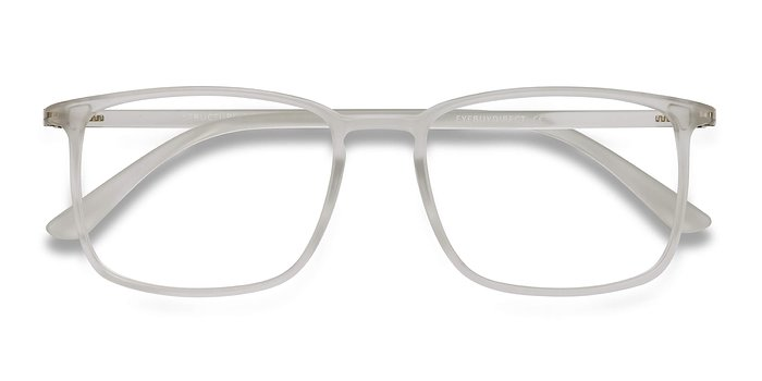 Frosted Clear Structure -  Plastic Eyeglasses