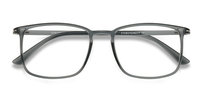 Clear Gray Structure -  Plastic Eyeglasses