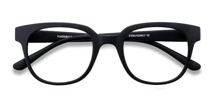 Matte Black Flashback -  Classique Plastique Lunettes de Vue