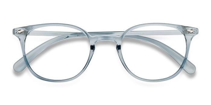 Clear Blue Hubris -  Plastic Eyeglasses