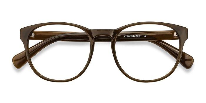 Dark Brown Heartbeat -  Plastic Eyeglasses