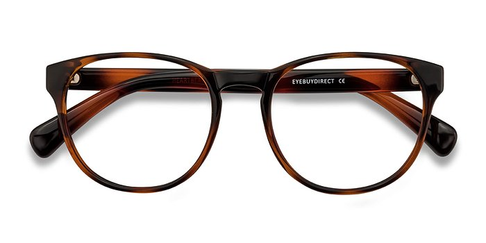 Brown Heartbeat -  Plastic Eyeglasses