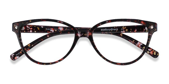 Floral Dame -  Vintage Plastic Eyeglasses