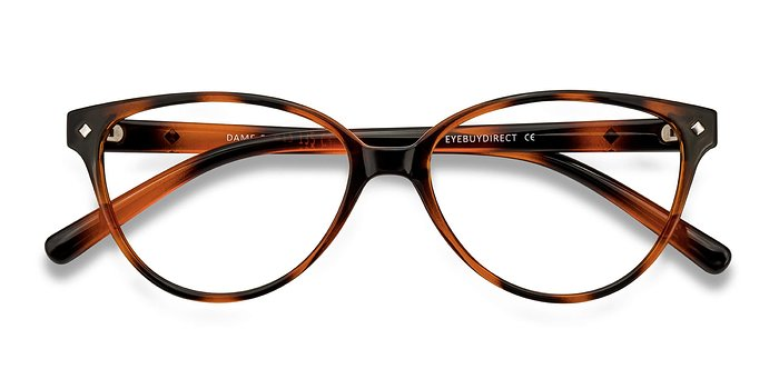 Tortoise Dame -  Vintage Plastic Eyeglasses