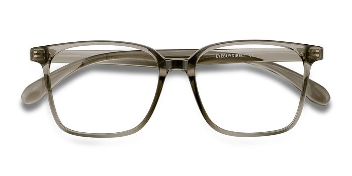 Clear Gray Blocks -  Plastic Eyeglasses