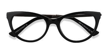 Black Her -  Vintage Acetate Eyeglasses