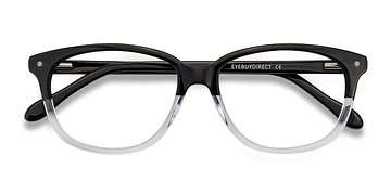 Clear Black Escape -  Acetate Eyeglasses